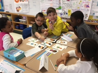 Students playing a Junior Achievement game