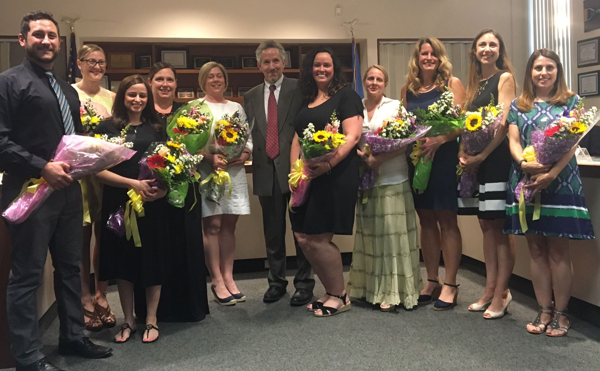 Teacher of the year recipients