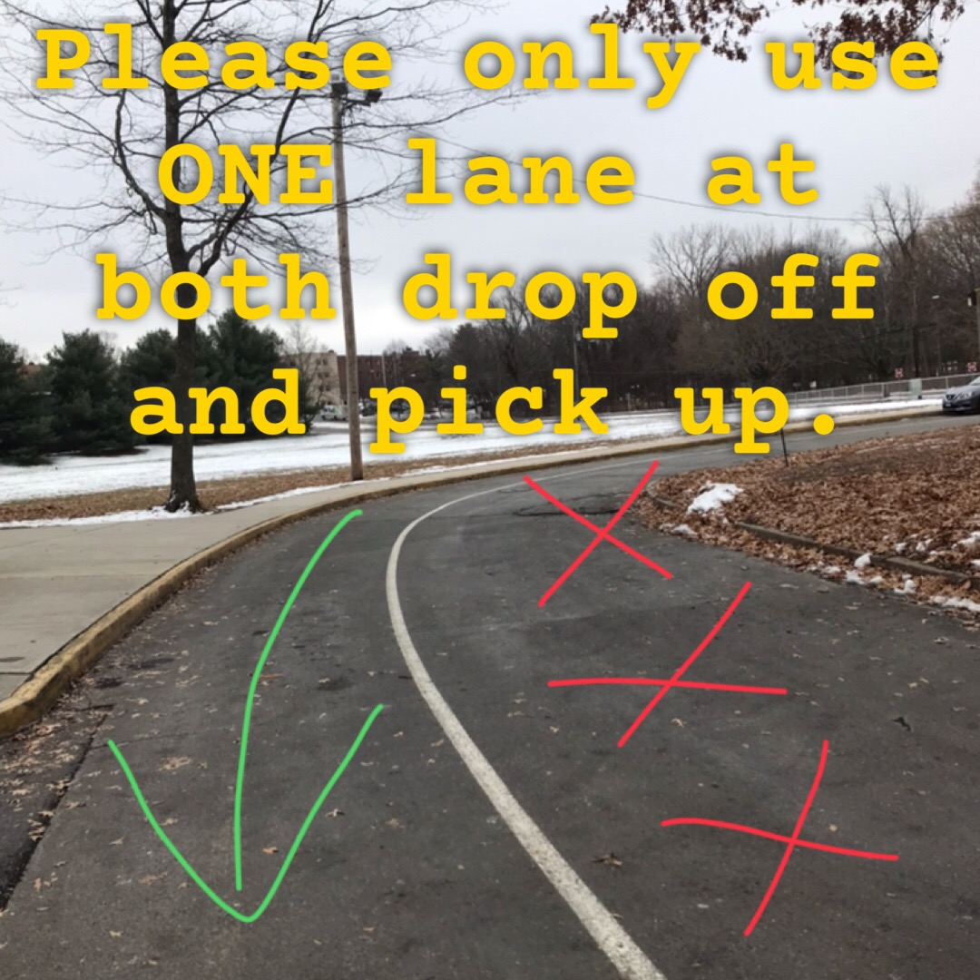 One lane only