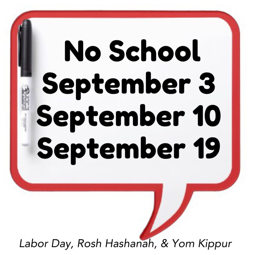 September No School Dates